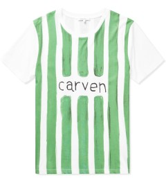 Carven White/Green Watercolor Jersey T-Shirt  Picutre