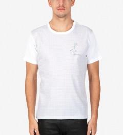 Carven Sky Blue Mix Jersey & Schoolboy Check T-Shirt  Model Picture