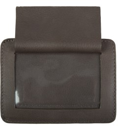 Carven Choco Full Grain Leather Pocket  Model Picture