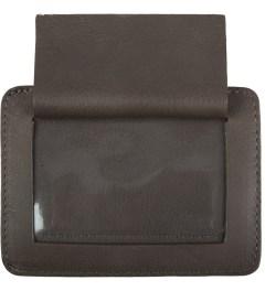 Carven Choco Full Grain Leather Pocket  Model Picutre