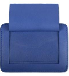 Carven Royal Blue Full Grain Leather Pocket  Model Picture