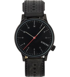 KOMONO Jet Black Winston Brogue Watch Picture