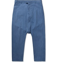 Munsoo Kwon Washed Blue Andrew Slub Span Pants Picture