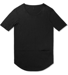 Munsoo Kwon Black Deep Neck Oversized T-Shirt Picture