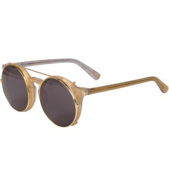 SUNDAY SOMEWHERE Gold Mother of Pearl Matahari Sunglasses Model Picutre