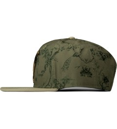 Staple Olive Brooks Snapback Cap   Model Picutre