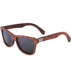 Shwood Grey Polarized Redwood Burl/Walnut Canby Sunglasses   Model Picutre