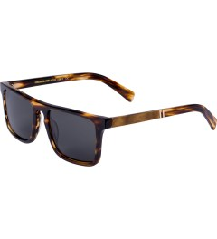 Shwood Grey Polarized Tortoise Shell/Maple Burl Govy2 Sunglasses   Model Picture