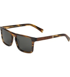 Shwood Grey Polarized Tortoise Shell/Mahogany Burl Govy2 Sunglasses  Model Picture