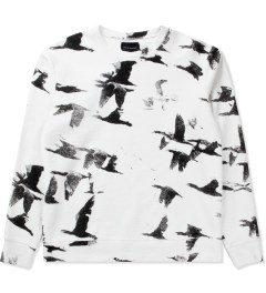Tourne de Transmission White/Black Mirgration Print Sweater Picutre