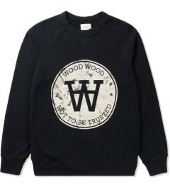 Wood Wood Dark Navy Hester Marble Seal Sweatshirt Picutre