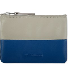 Wood Wood Blue/Aluminium Zip Wallet Picutre