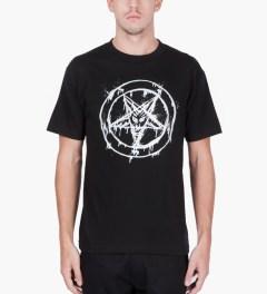Black Scale Black 666 Splatter T-Shirt  Model Picutre
