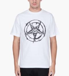 Black Scale White 666 Splatter T-Shirt  Model Picutre