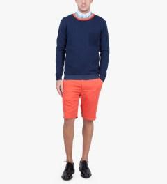 Commune De Paris Red Panto Shorts Model Picutre