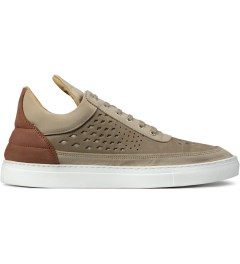 Filling Pieces Beige/Red Lowtop Gradient Perforated Shoe Picutre