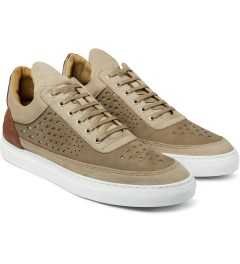 Filling Pieces Beige/Red Lowtop Gradient Perforated Shoe Model Picutre