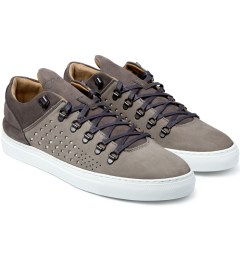 Filling Pieces All Grey Moutain Cut Gradient Perforated Shoe Model Picutre