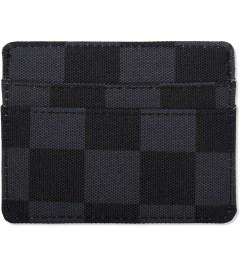 Herschel Supply Co. Black Checkerboard Charlie Cardholders Model Picutre