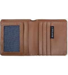Herschel Supply Co. Washed Navy/Tan Leather Kenny Canvas Wallet Model Picutre