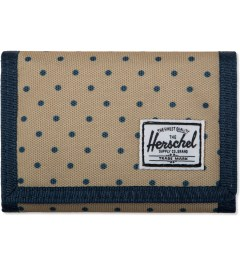 Herschel Supply Co. Khaki Polka Dot/ Navy Hilltop Wallet Picutre