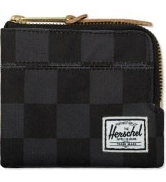 Herschel Supply Co. Black Checkerboard Johnny Zip Wallet Picutre