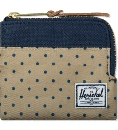Herschel Supply Co. Khaki Polka Dot/Navy Johnny Zip Wallet Picutre