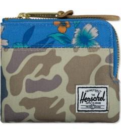 Herschel Supply Co. Duck Camo/Paradise Johnny Zip Wallet Picutre
