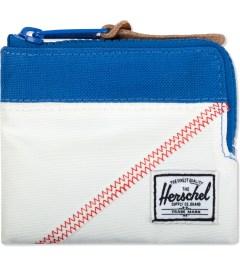 Herschel Supply Co. White/Regatta Blue Johnny Zip Wallet Picutre