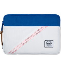 Herschel Supply Co. White/Regatta Blue Anchor Sleeve for iPad Mini Picture