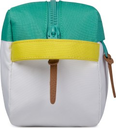Herschel Supply Co. Mark Teal/White/Cardinal Yellow Token Pouch Model Picture