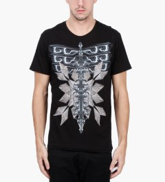 Uppercut Black Headlight Print T-Shirt Model Picutre