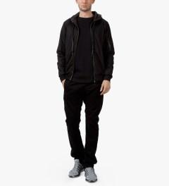Matthew Miller Black Foil Pocket Circle Sweater Model Picture