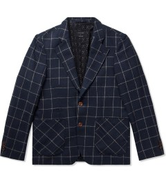 i love ugly. Navy Check Blazer  Picture