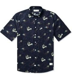 Libertine-Libertine Navy Monkey King Print Hunter S/S Shirt Picutre