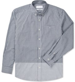 Liful Grey Gingham Check Shirt Picture