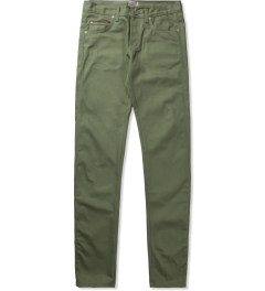 Naked & Famous Leaf Green Selvedge Chino Skinny Guy Jeans  Picutre