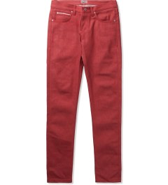 Naked & Famous Red Stretch Selvedge Super Skinny Guy Jeans Picutre