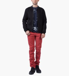 Naked & Famous Red Stretch Selvedge Super Skinny Guy Jeans Model Picutre