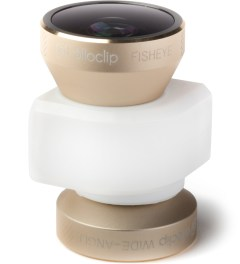 olloclip Gold Lens/White Clip 4-in-1 Fisheye,Wide-Angle,2 Macros iPhone5/5s Lens Model Picture