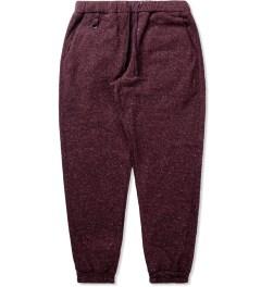 Publish Maroon Borbeau Knit Jogger Pants Picutre