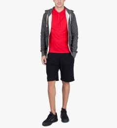 Reigning Champ Black/Natural RC-3205-17 Knit Tiger Terry L/S Zip Hoodie Model Picutre