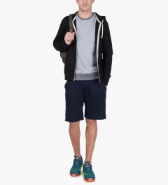 Reigning Champ Navy RC-5019 Midweight Twill Fr Terry Sweatshorts Model Picture