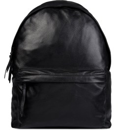 Stampd Black Leather Backpack Picutre