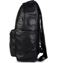 Stampd Black Leather Backpack Model Picutre