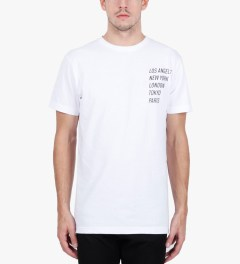 Stampd White All City Flag T-Shirt Model Picutre