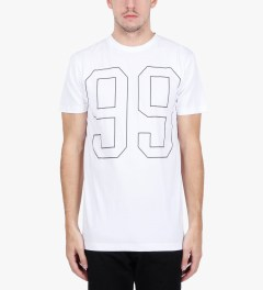 Stampd White 99 T-Shirt Model Picutre