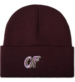 Odd Future Burgundy OF Donut Beanie Picture