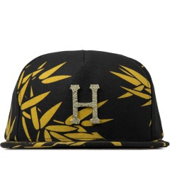 HUF Black Hammered Metal H Bamboo Strapback Cap Picture