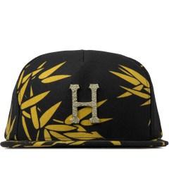 HUF Black Hammered Metal H Bamboo Strapback Cap Picutre
